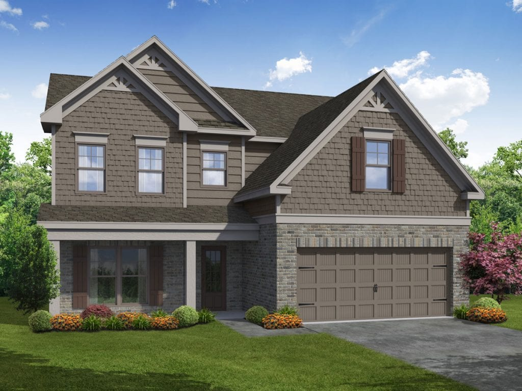 Arlington-II Floorplan | Beds: 4 - 5 | Baths: 3 Stories: 2  | Sqft: 2580