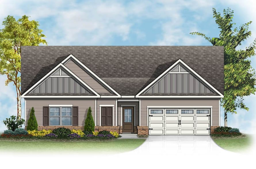 Ashford Floorplan | Beds: 3 | Baths: 2 Stories: 1  | Sqft: 1870