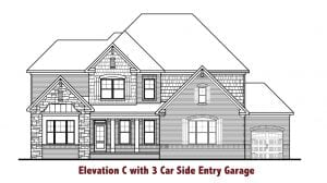 Barkley Plan 3 Car by Chafin Communities 2020-Elevation C