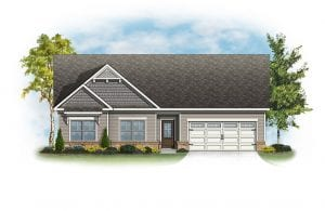 Brentwood Plan by Chafin Communities 2020 Elevation Color