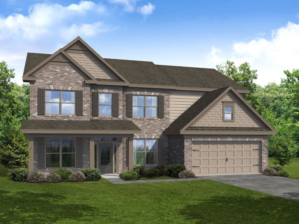 Brunswick-II Floorplan | Beds: 5 | Baths: 4 Stories: 2  | Sqft: 3068-3284