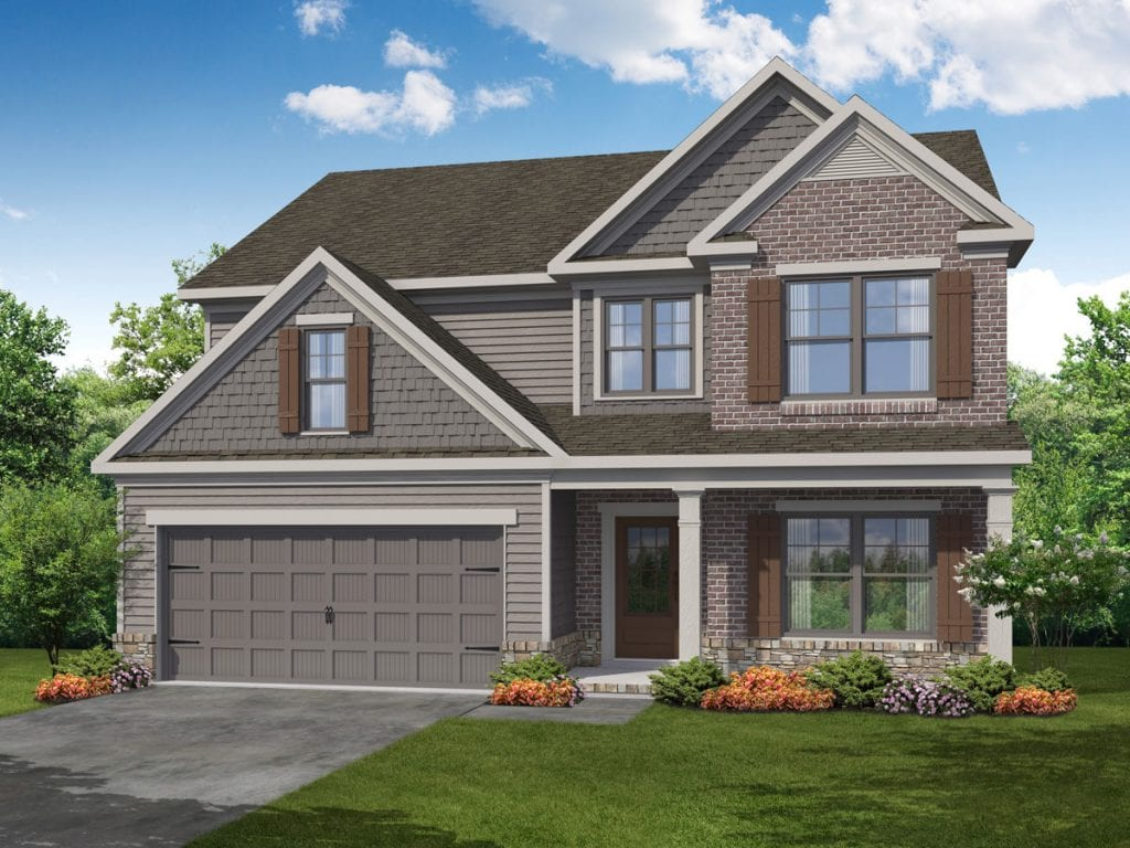 Carlson Floorplan | Beds: 4 | Baths: 2.5 Stories: 2  | Sqft: 2587