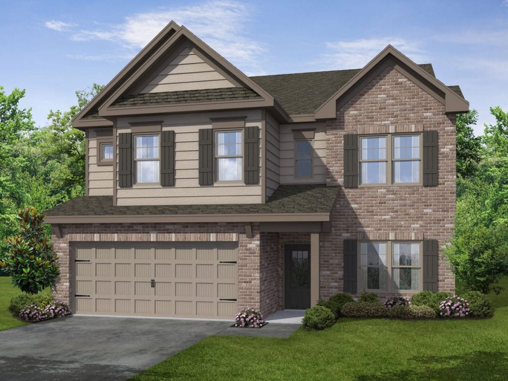 Connor-II Floorplan | Beds: 4 | Baths: 2.5 Stories: 2  | Sqft: 2587