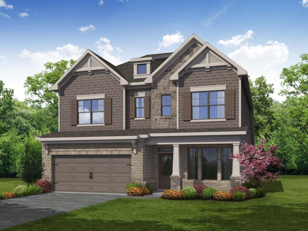 Dresden Floorplan | Beds: 4 - 5 | Baths: 3.5 Stories: 2  | Sqft: 2850