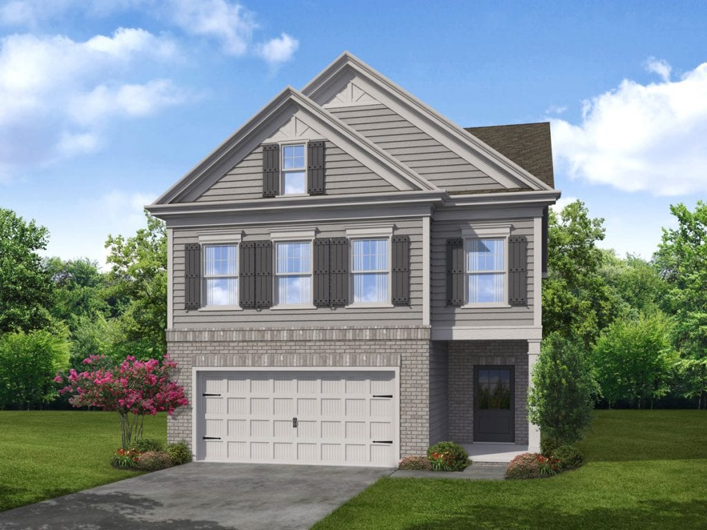 Hawthorn Floorplan | Beds: 3 - 4 | Baths: 2.5 Stories: 2  | Sqft: 2312