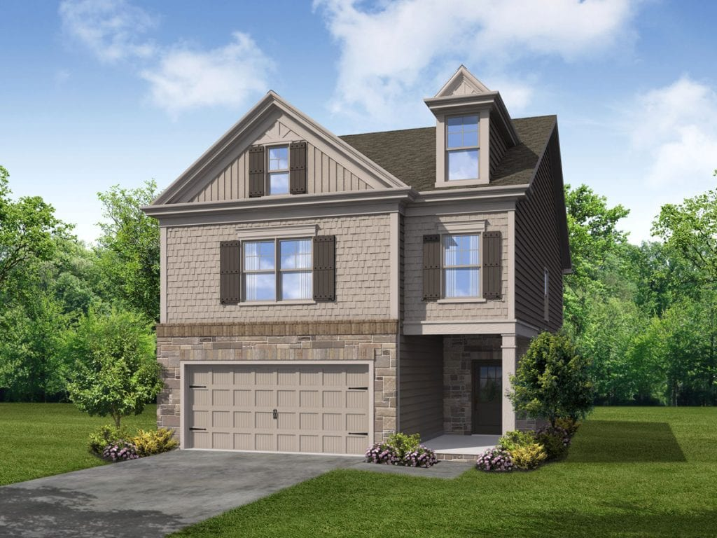 Hemlock Floorplan | Beds: 3 - 4 | Baths: 2.5 Stories: 2  | Sqft: 2332