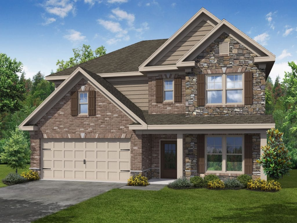 Hunter-I Floorplan | Beds: 4 | Baths: 2.5 Stories: 2  | Sqft: 2656