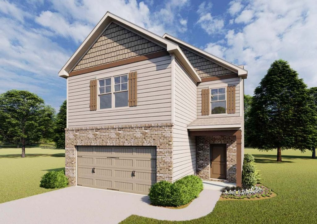 McKinley Floorplan | Beds: 3 | Baths: 2.5 Stories: 2  | Sqft: 2114