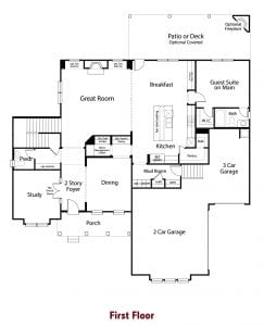 Sheffield Plan by Chafin Communities 2020 First Floor