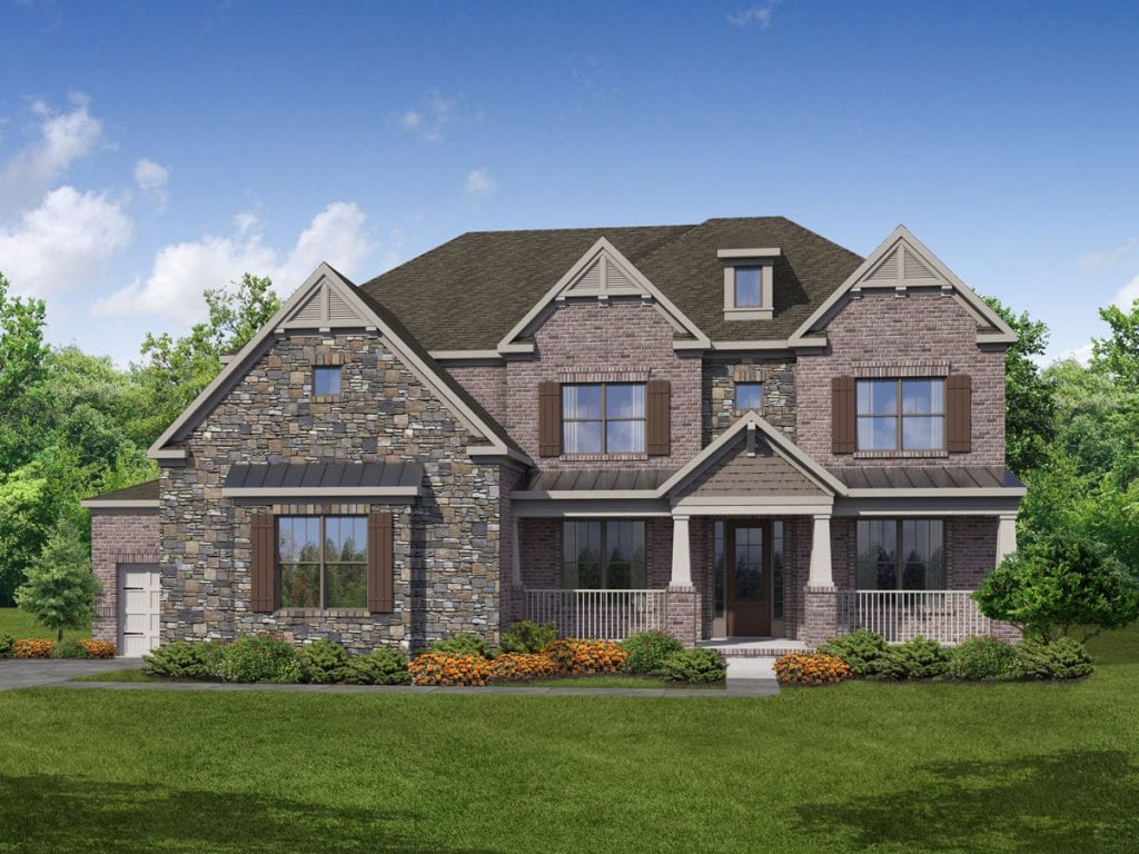 Tudor Floorplan | Beds: 5 | Baths: 4 Stories: 2  | Sqft: 3830-4183