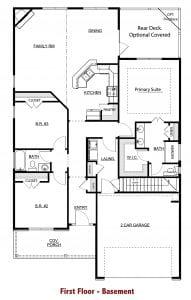 Hampton Plan by Chafin Communities 2020-First Floor Basement