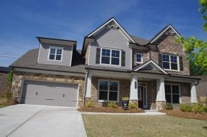 Exterior Front The Bentley Plan - 2 Story Floor Plan with about 3,600 sf by Chafin Communities