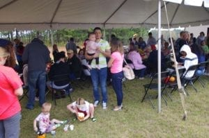 Tent at Mundy Mill Fall Festival by Chafin Communities