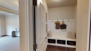 The Mud Room in the Parkside Plan. See it in the model at the Stone Haven Community