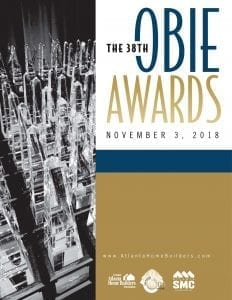 Chafin Communities Obie Awards 2018