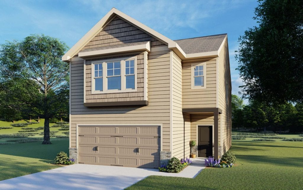 Davenport Floorplan | Beds: 3 | Baths: 2.5 Stories: 2  | Sqft: 1900