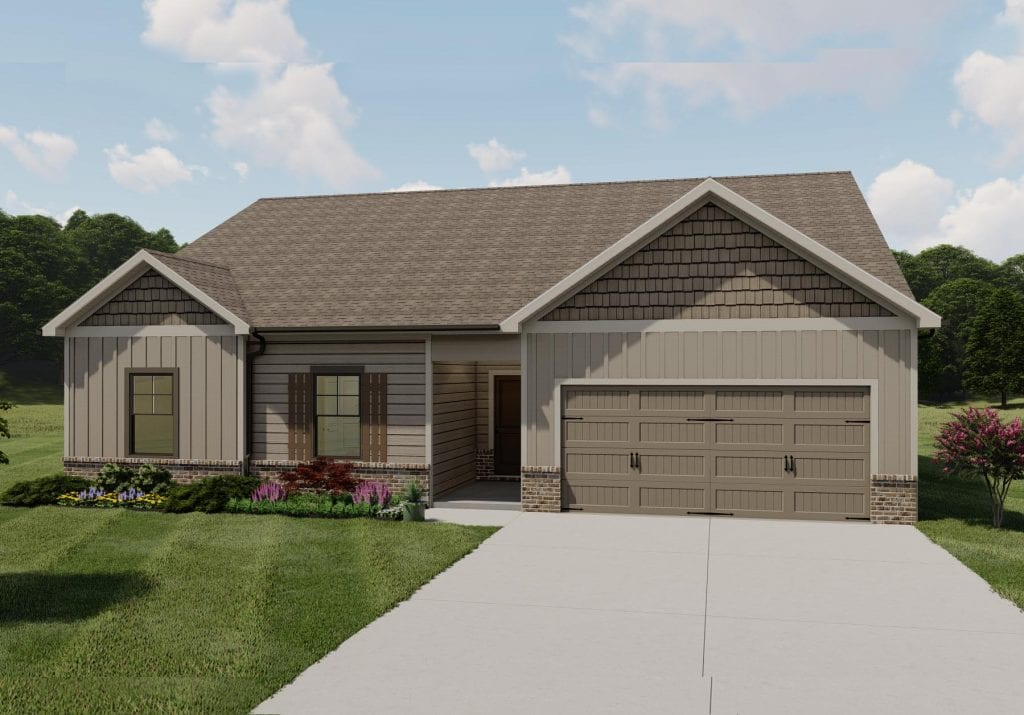 Denton Floorplan | Beds: 3 | Baths: 2 Stories: 1  | Sqft: 1800
