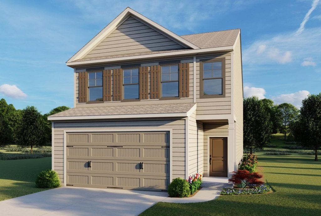 Fairfield Floorplan | Beds: 3 | Baths: 2.5 Stories: 2  | Sqft: 1950
