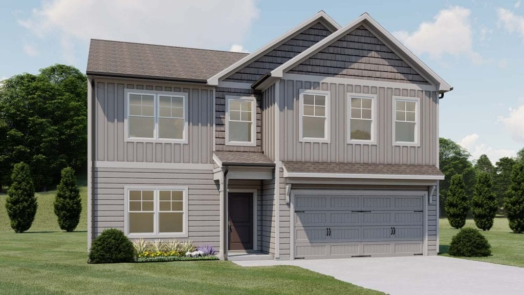 Glendale Floorplan | Beds: 4 | Baths: 2.5 Stories: 2  | Sqft: 2320