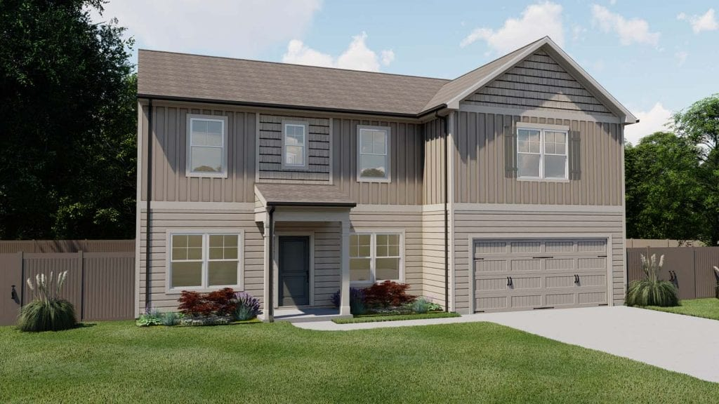 Greenbrier Floorplan | Beds: 4 - 5 | Baths: 3 Stories: 2  | Sqft: 3030