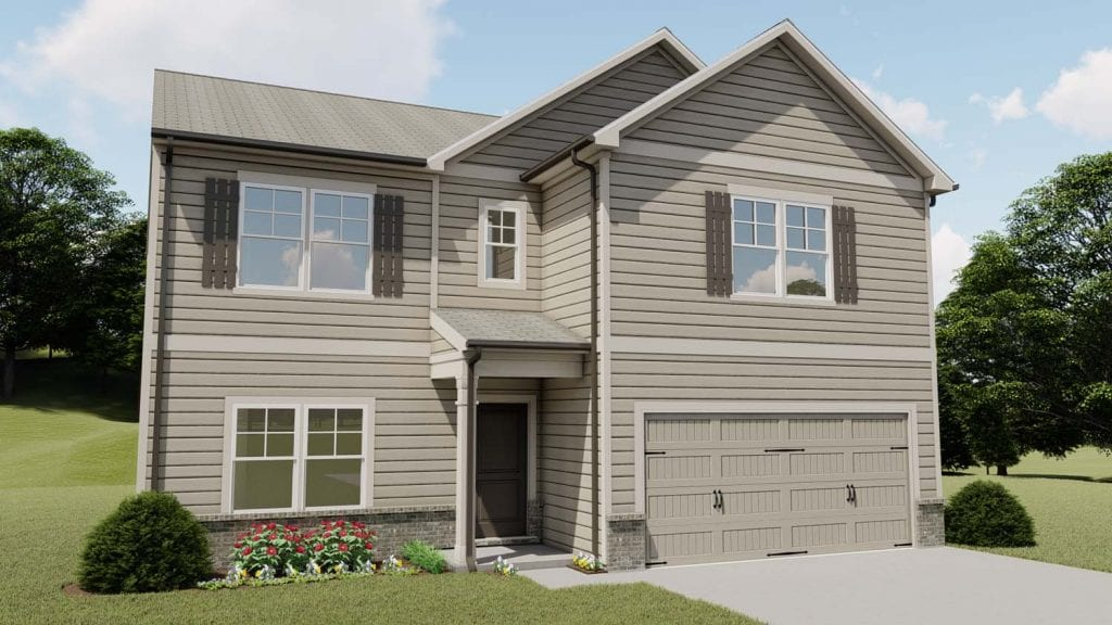 Greenwood Floorplan | Beds: 4 | Baths: 2.5 Stories: 2  | Sqft: 2430
