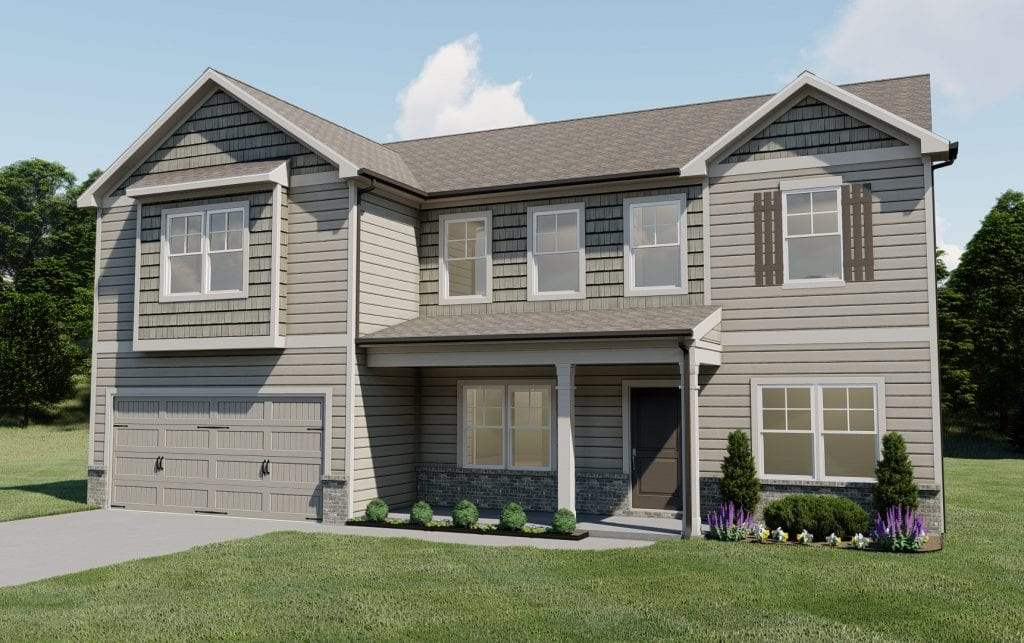 Hammond Floorplan | Beds: 5 | Baths: 3 - 4 Stories: 2  | Sqft: 3320