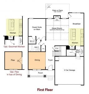 Kirkwood Plan by Chafin Communities 2020-First Floor