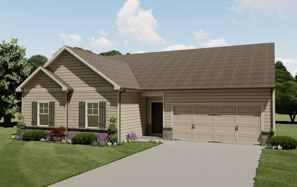 Magnolia Floorplan | Beds: 4 | Baths: 2 Stories: 1  | Sqft: 2063
