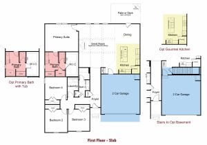 Magnolia Plan by Chafin Communities 2020-First Floor