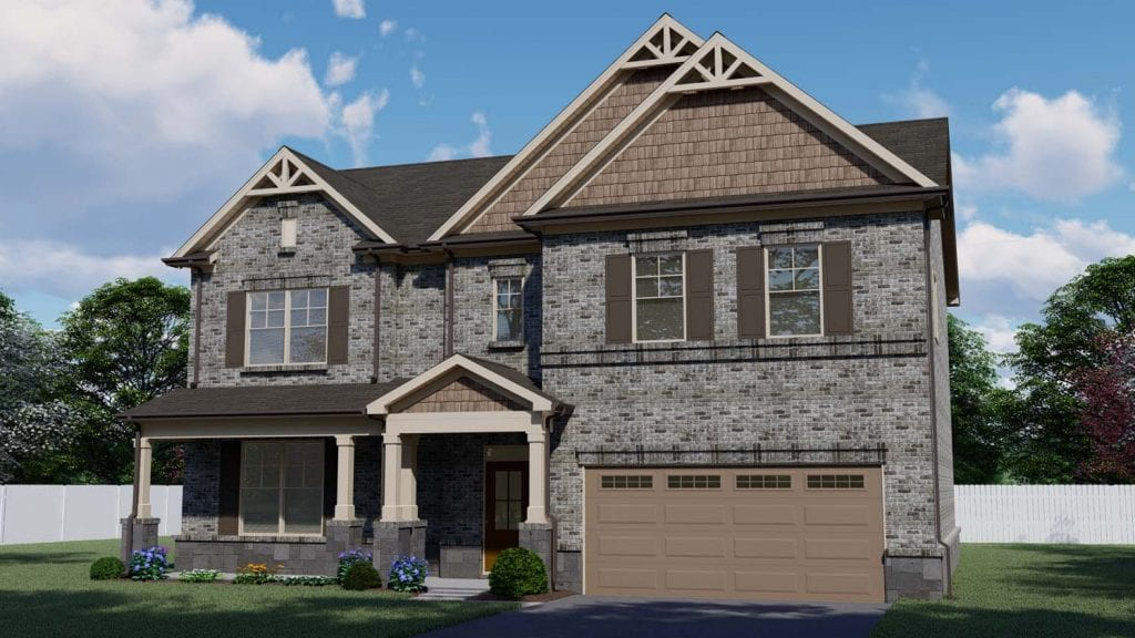 Bristol Floorplan | Beds: 4 - 5 | Baths: 2.5 - 3 Stories: 2  | Sqft: 2930