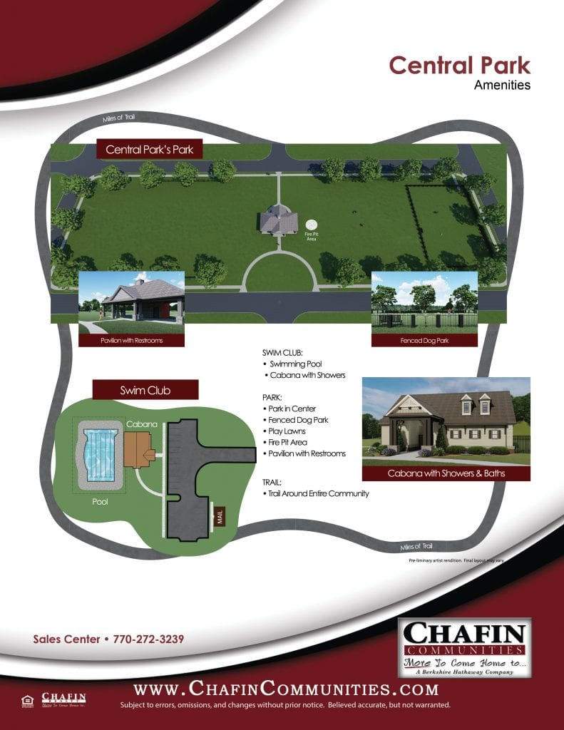 Central Park_Amenities by Chafin Communities 2020