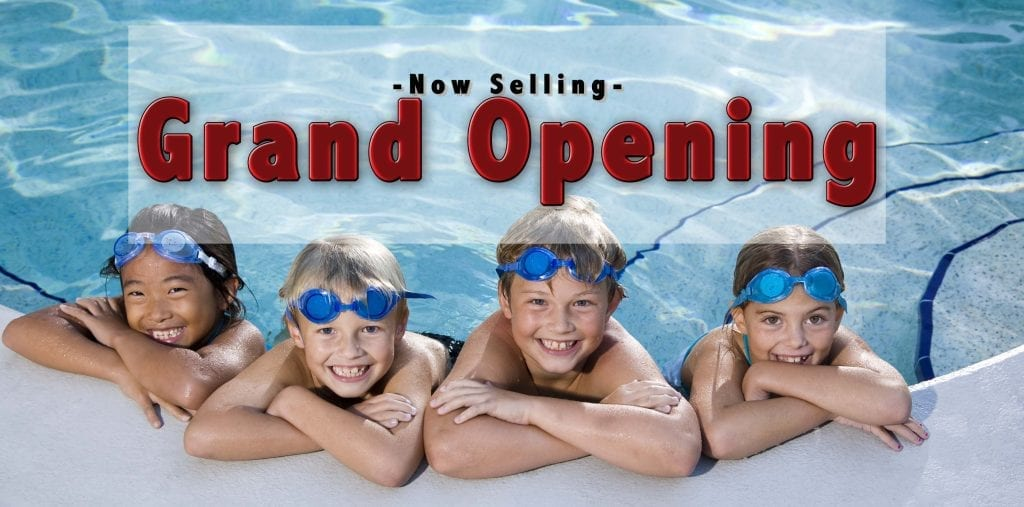 Grand Opening Now Selling