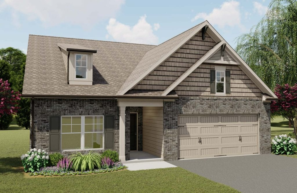 Riverstone Floorplan | Beds: 3 - 4 | Baths: 2 - 3 Stories: 1.5  | Sqft: 2148