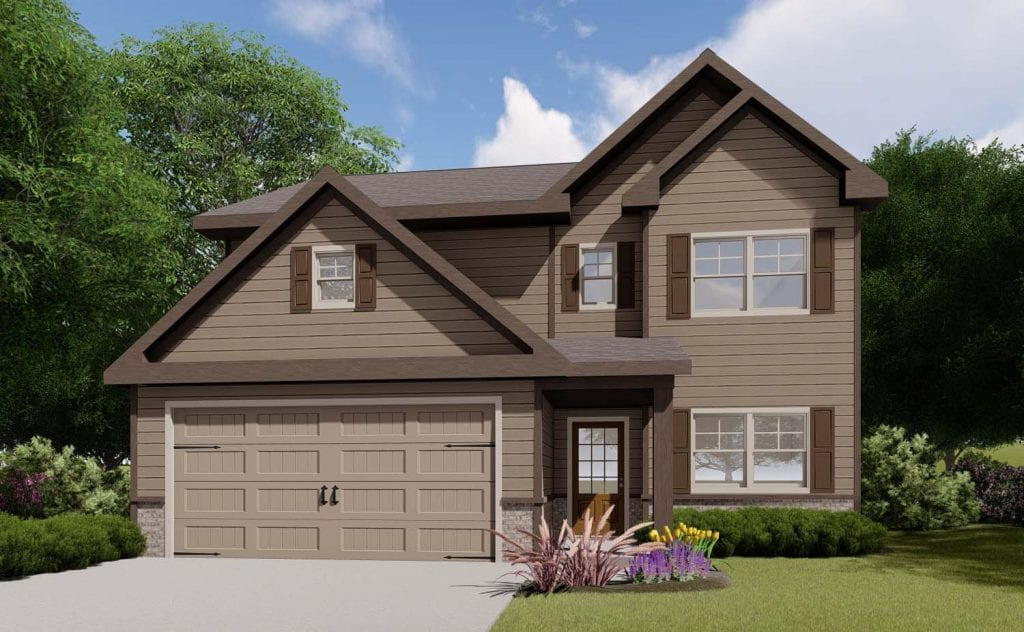 Savannah Floorplan | Beds: 4 | Baths: 2.5 Stories: 2  | Sqft: 2080