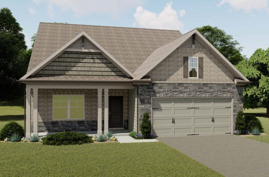 Spring Brook Floorplan | Beds: 2 - 4 | Baths: 2.5 - 3 Stories: 1  | Sqft: 2404