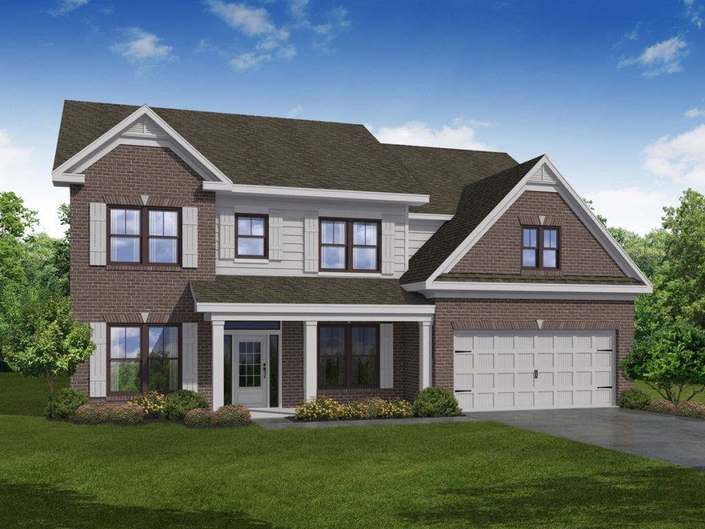 Turnbridge Floorplan | Beds: 5 | Baths: 4 Stories: 2  | Sqft: 3245-3445