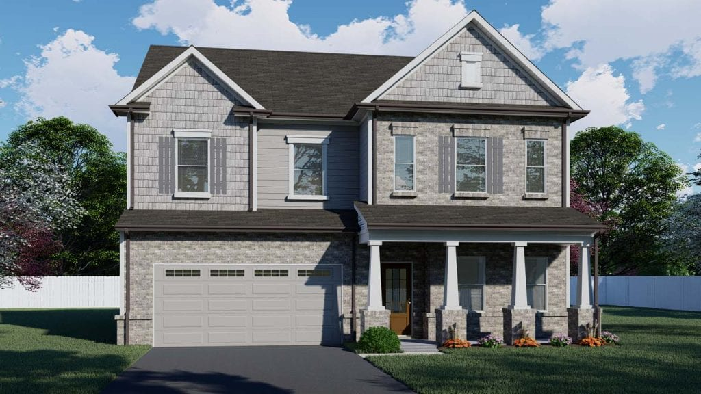 Wakefield Floorplan | Beds: 3 - 5 | Baths: 2.5 - 3 Stories: 2  | Sqft: 2630