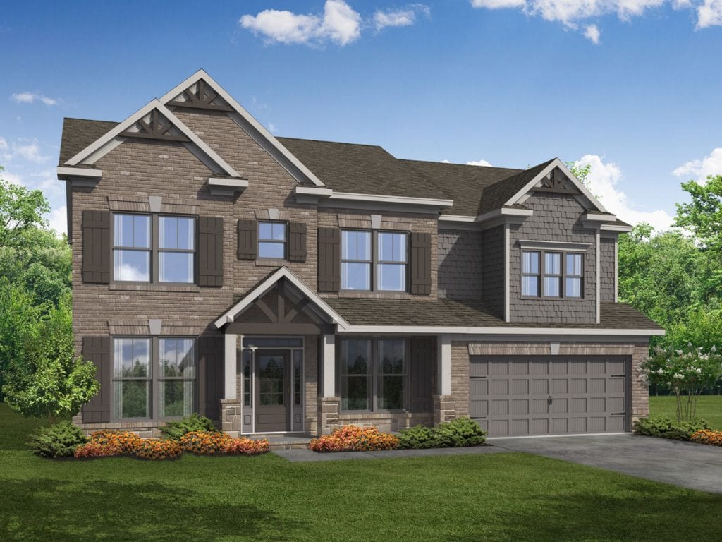 Windermere Floorplan | Beds: 5 | Baths: 4 Stories: 2  | Sqft: 3000-3146