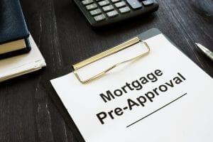 Business photo shows printed text Mortgage Pre-Approval