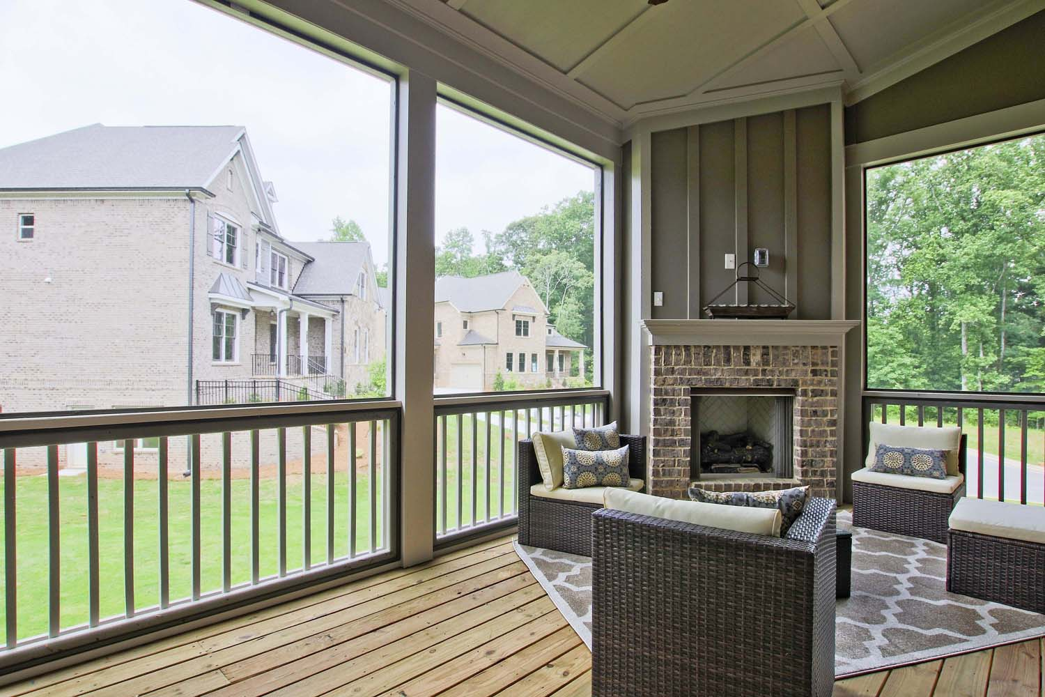 Outdoor Living Options Covered Outdoor Fireplaces