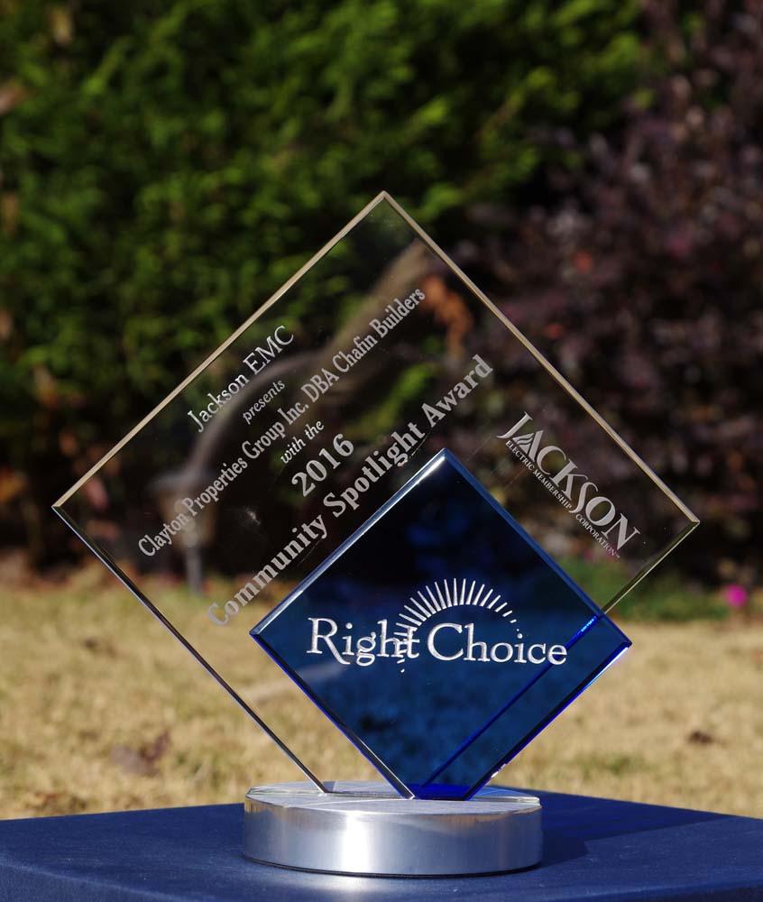 Chaifn-Communities-Right-Choice-Award Energy Efficiency