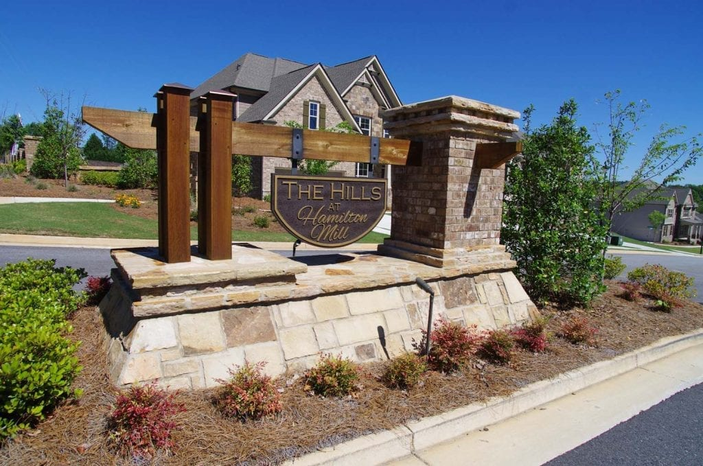 New-Homes-The-Hills-at-Hamilton-Mill-Entrance-by-Chafin-Communities_2
