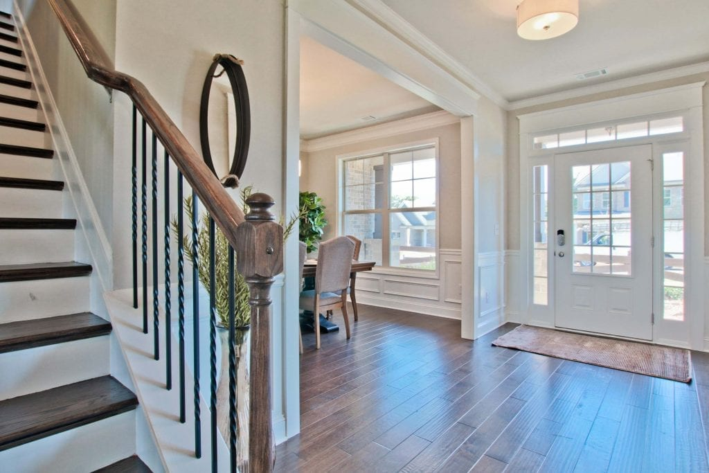 Turnbridge-by-Chafin-Communities-Model-at-Parkside-at-Mulberry-Foyer-from-Stairs