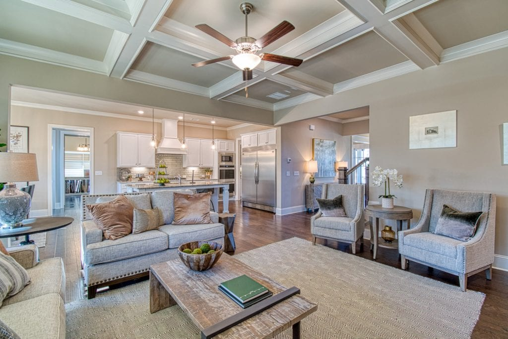 Bentley - Chafin Communities - Great Room to Kitchen