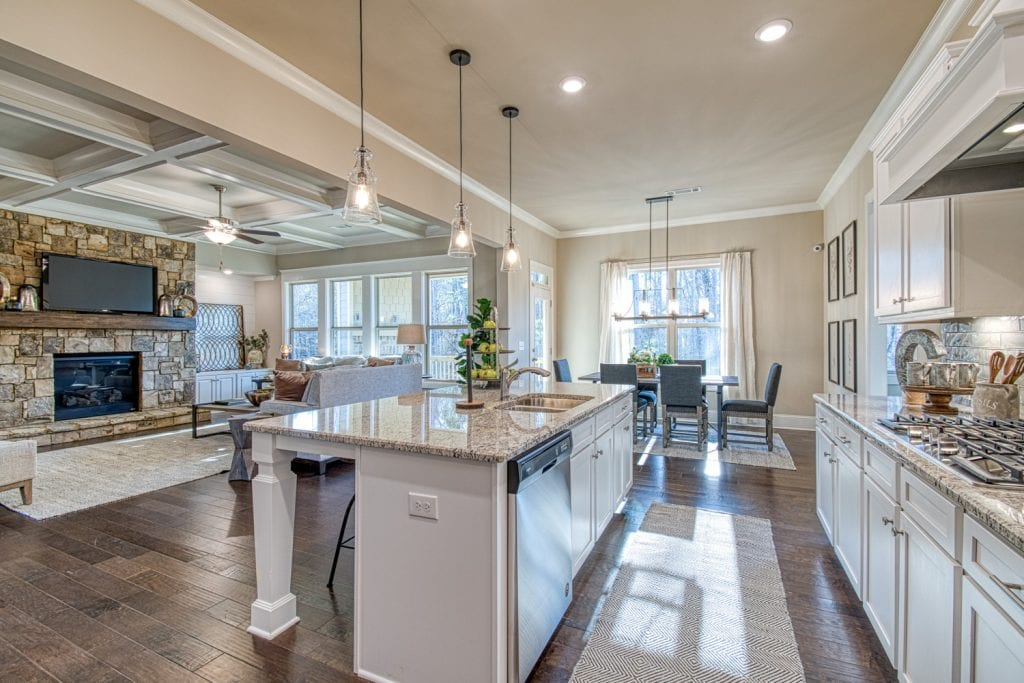 Bentley - Chafin Communities - Kitchen to Great Room