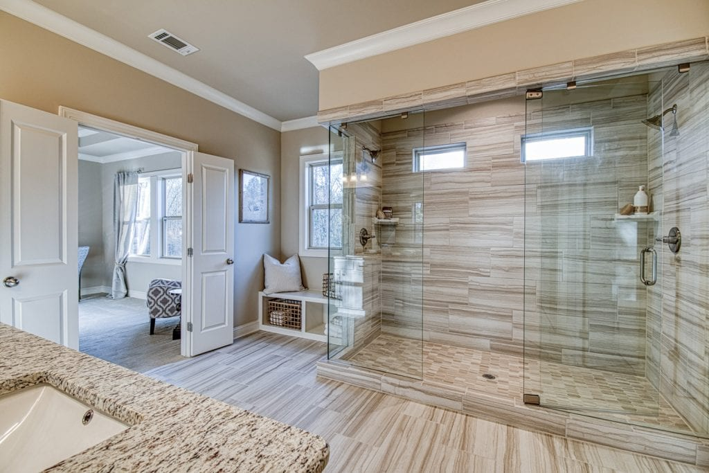 Bentley - Chafin Communities - Owner's Bath with Enlarged Shower