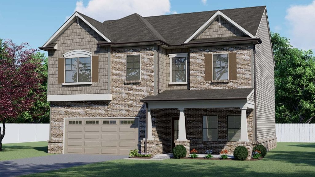 Winsford Floorplan | Beds: 4 | Baths: 2.5 - 3..5 Stories: 2  | Sqft: 2530