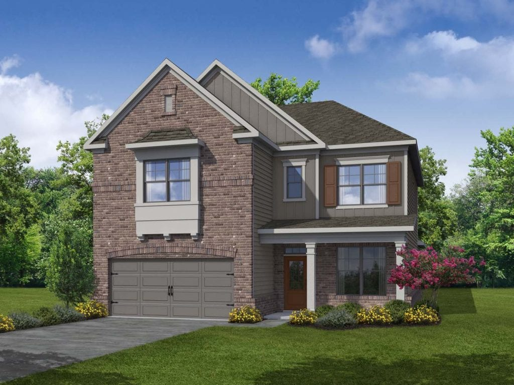 Peachtree Floorplan | Beds: 4 | Baths: 3 Stories: 2  | Sqft: 2625