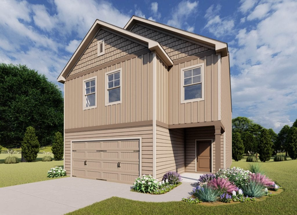 Pembroke Floorplan | Beds: 4 | Baths: 2.5 - 3.5 Stories: 2  | Sqft: 2250