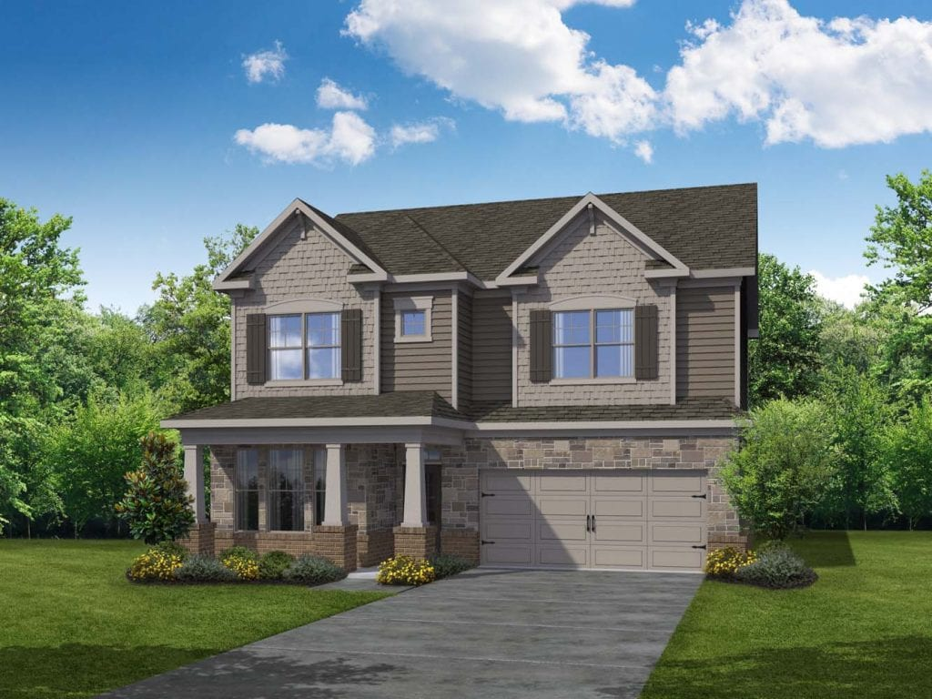 Piedmont Floorplan | Beds: 4 | Baths: 3 Stories: 2  | Sqft: 2465